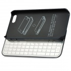 K50S 50-Key Bluetooth V3.0 Keyboard for Iphone 5 - Black + Silver