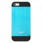 IPSKY Protective Detachable PC + Aluminum Alloy Case for Iphone 5 / 5s - Black + Blue