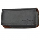 Protective Genuine Leather Case w/ Clip for Iphone 5 - Black
