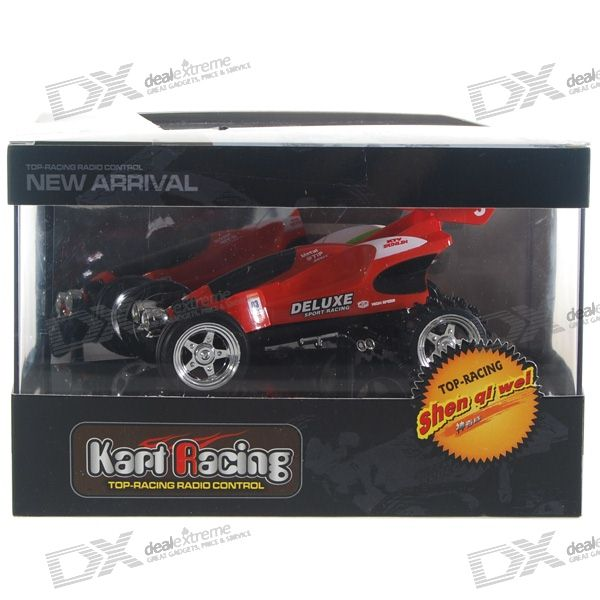 Remote Controlled Rechargeable Racing Kart R/C Car with Desktop Stand (40MHz)