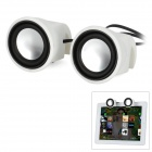 MINI-2 3W Portable Speakers for Ipad + Iphone + More - White + Black