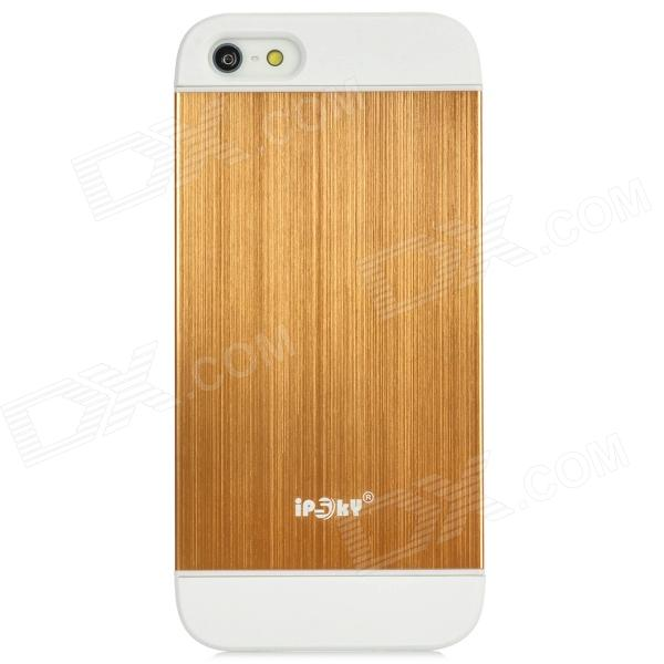 IPSKY Cool Style Detachable Back Case for Iphone 5 / 5s - White + Golden