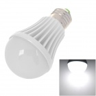 E27 5W 400~480lm 6500K 5-LED White Light Bulb - White + Silver