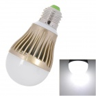 E27 5W 400 ~ 480lm 6500K 5-LED White Light Bulb - Champagne + White