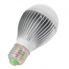 E27 5W 450~500lm 6500K 15-SMD 3528 LED White Light Bulb - Silver + White