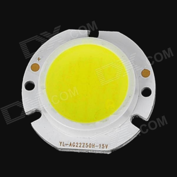 5W 525lm 6000K White Round Shaped COB LED Light - Yellow + White (15~17V)