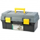 Pro'skit SB-4121 Multi-function Double Layer Storage Tool Carrying Box - Grey + Yellow + Black