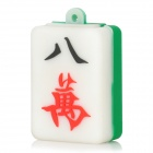 Mahjong Character Eight Wan Tile Style USB 2.0 Flash Drive w/ Chain - White + Green (8GB)