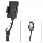 """ALLKITII 1.2"""" LCD FM Transmitter w/ Car Charger Stand for iPhone 5 / iPod Touch 5 / Nano 7 - Black"""