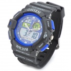 OHSEN AD1201-BL Men's Sport Analog + Digital Quartz Wrist Watch - Black + Blue (1 x SR626)