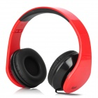 iLeAD MP3 Headband Foldable Headphone - Red + Black (3.5mm Plug)