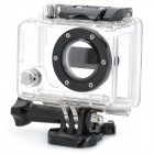 Side Opening Protective Case for GoPro / GoPro HD Hero2 - Black + Transparent