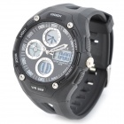 OHSEN AD1202-B Men's Sport Analog + Digital Quartz Wrist Watch - Black (1 x SR626)