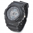 OHSEN AD1216-B Men's Sport Analog + Digital Quartz Wrist Watch - Black (1 x SR626)