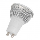 GU10 3W 300lm 3500K 3-LED Warm White Light Spotlight Bulb - Silver (AC 85~265V)