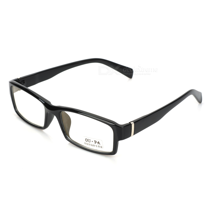 Computer Radiation-Proof Anti-Fatigue Pain Glass Spectacles - Black - DXEyeglasses &amp; Accessories<br>Quantity 1 Gender Unisex Suitable for Adults Frame Color Black Lens Color Transparent Frame Material PC Lens Material PC Lens Height 30 mm Lens Width 55 mm Bridge Distance 15 mm Overall Width of Frame 140 mm Temple Length 127 mm Features Radiation-proof to avoid the radiation which is harmful to human health; Ideal for the office staffs who need work before computer. Packing List 1 x Glasses 1 x Cleaning cloth 1 x Case<br>
