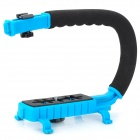 C Type Handle Mount for Camera / DV - Black + Light Blue