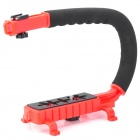 C Type Handle Mount for Camera / DV - Black + Red