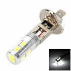 YT1311386 H1 5W 350lm 6500K 10 LED SMD 5730 White Light Foglight Car Bulb - Yellow + Silver