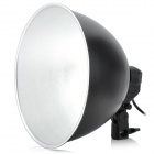 Collapsible Mid-sized Studio Flash Reflector Lampshade w/ E27 Light Socket Holder - Black