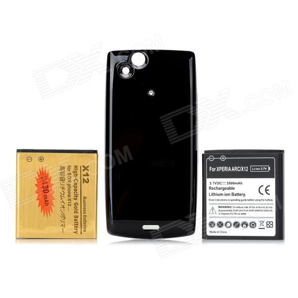 Replacement 3500mAh / 2430mAh Li-ion Battery + Black Back Case for Sony Ericsson Xperia Arc LT15i сотовый sony ericsson w900 black