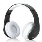 iLeAD MP3 Headband Foldable Headphone - Black + White (3.5mm Plug)
