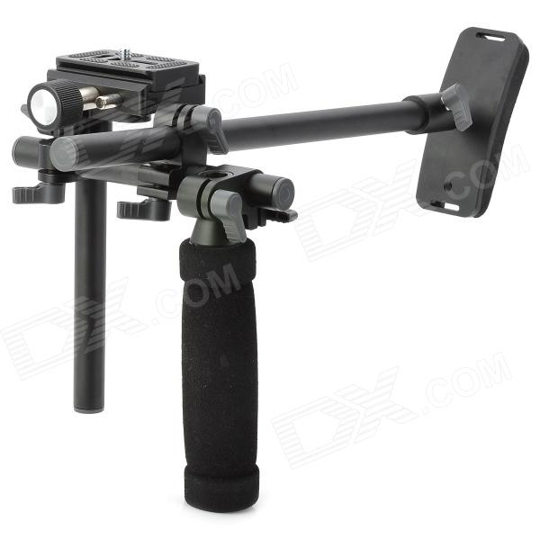 Portable Handheld Holder Mount for Camera / DV - Black aluminum alloy motorcycle holder for dv camera black silver