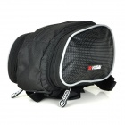 KUGAI Cycling Bicycle 600D + Polyester Fabric Upper Tube Storage Bag - Black