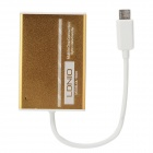 LDNiO Multifunction MS / M2 / SD(HC) / TF / Mini SD Card Reader - Golden