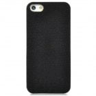 Shimmering Powder Electrofacing Protective Plastic Hard Back Case for Iphone 5 - Black + Silver