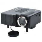 Mini Home LED Multi-Media Projector w/ SD / AV / USB / 3.5mm Jack - Black + Deep Grey