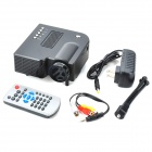 Mini Home LED Multi-Media Projector w / SD / AV / USB / 3,5 mm Jack - Black + Hluboká šedá