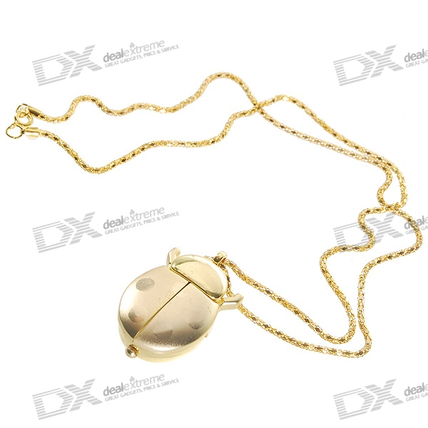 Valentine's Day Gift - Gold Beetle Pocket Watch