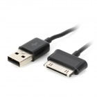 USB Male to Male + USB Female to OTG Cable for Samsung Tablets - Black