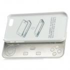 Detachable Rechargeable Game Bluetooth V3.0 11-Key Keyboard for Iphone 5 - Silver White