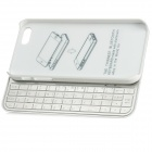 Detachable Rechargeable Bluetooth V3.0 50-Key Keyboard for Iphone 5 - Silver White
