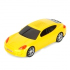 KaiRui FS-568 Car Shaped Portable Mini Speaker w/ TF Slot / FM - Yellow + Black + Red
