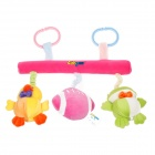 Lokyee Pulling Vibration Rugby / Duck / Frog Bed Hanging Baby Toy w/ Clip / Sound Effect (2 x AG3)