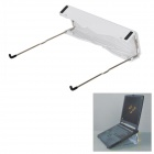 Universal Desktop Holder / Stand for Laptops - White + Silver