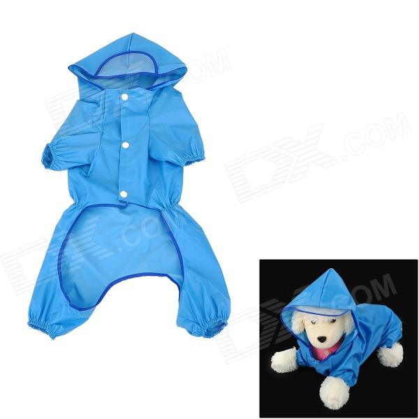 Cute Polyester + Nylon Pet Raincoat for Dog - Blue (Size 18) universal nylon cell phone holster blue black size l