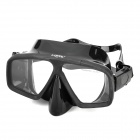 LOYOL M-2829-2 Tempered Glass Lens Diving / Swimming Glasses Goggles Mask - Black
