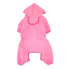 Cute Polyester + Nylon Pet Raincoat for Dog - Pink (Size 16)