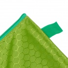 PVC + Cotton Zippered A4 Document File Holder Pocket - Green