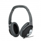 AT868 Universal Skull Pattern Headphone - Black + Grey