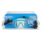 LOYOL Diving Snorkeling Scuba Snorkel w/ Goggles Mask Set - Black + Blue