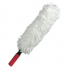 Cylindrical Shape Flexible Car Microfiber Duster Dirt Cleaning Wash Brush Tool - White
