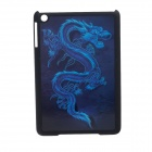 Fashion 3D Dragon Style Protective Plastic Back Cover Case for Ipad MINI - Black + Blue