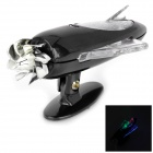 JC-883 Car Motorcycle Wind Power Empennage LED Decoration Light - Black