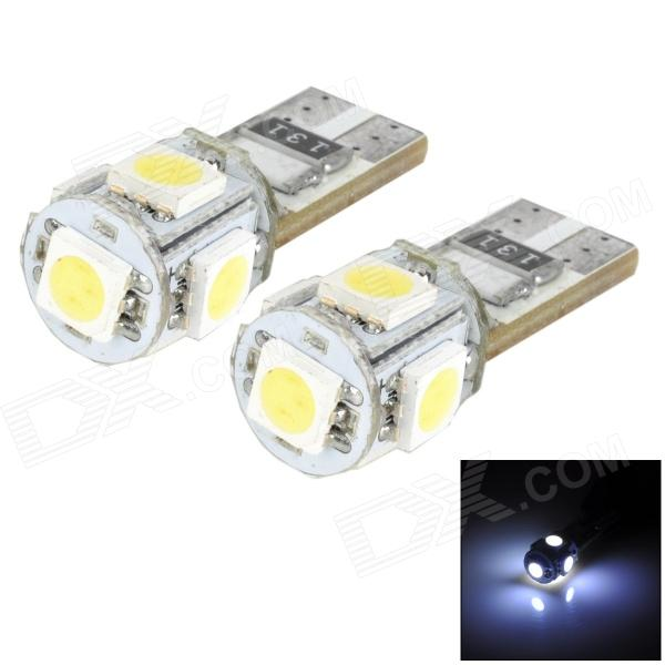 цена на T10 0.9W 60lm 5-SMD 5050 LED White Light Car Bulbs - Yellow + Silver