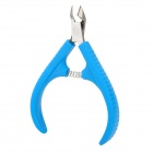 Stainless Steel Exfoliating Scrub Cuticle Nippers / Pliers - Blue + Silver